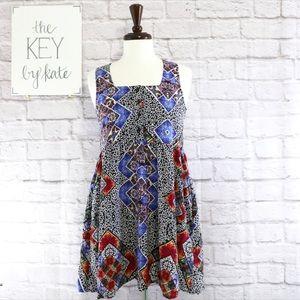 NWT MINKPINK Mixed Print Sleeveless Dress